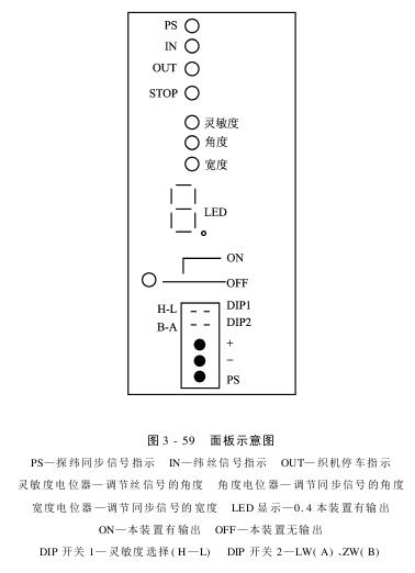 喷水织机光电探纬装置