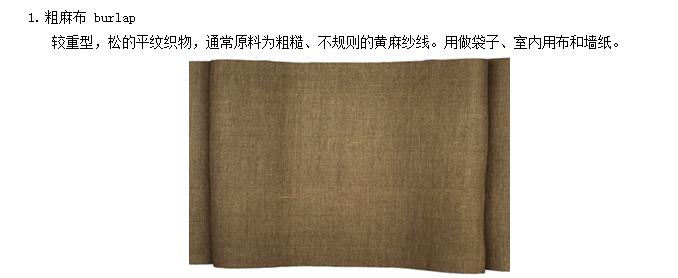 常见织物一览:重织物