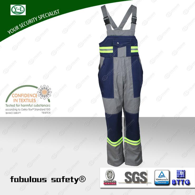 市纺织生产的阻燃多功能背带裤