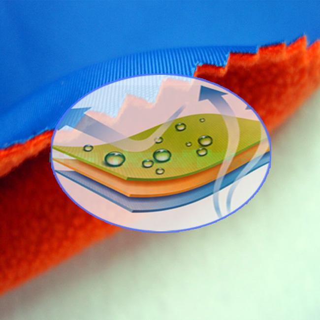 平布复合橙色摇粒绒