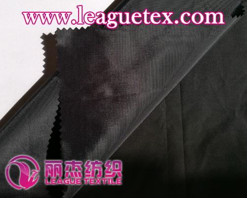 薄型锦棉平纹横条面料